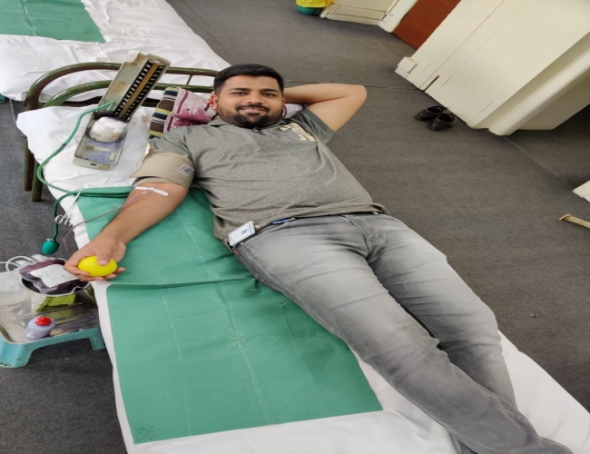 Global Volunteering WeeK Blood Donation Camp 6th Dec 19 2