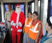 Santa Claus with Gate Team