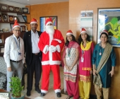 Santa Claus with CEO and Team