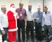 Santa Claus with Team
