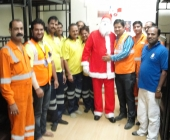 Santa Claus with OPS Team