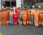 Santa Claus with Engg. Team