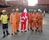 Santa Claus with Contract Workers